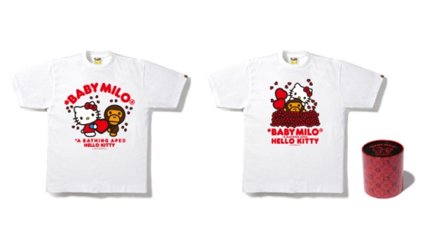 hello kitty bathing ape valentines